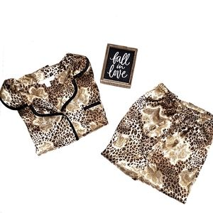 Croft and Barrow Leopard Print Pajamas